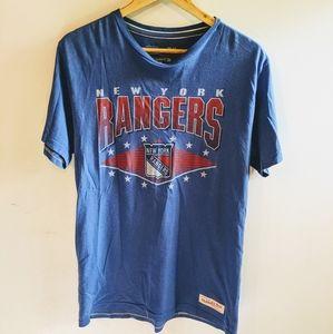 3/30$ New York Rangers Mitchell & Ness tee